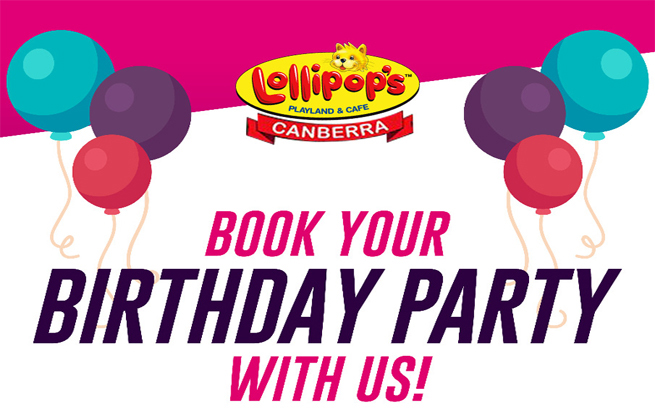 10% off parties at Lollipops